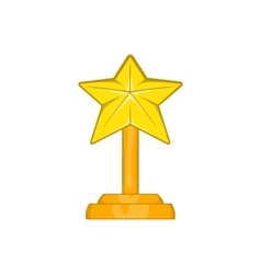Award star icon cartoon style vector