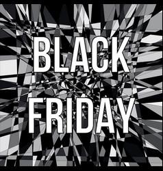 black friday sale design poster vector image
