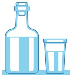 Carafe and glass vector