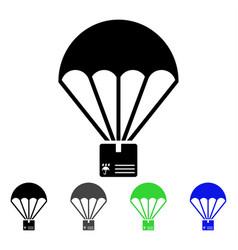Cargo parachute flat icon vector