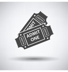 Cinema tickets icon vector image vector image