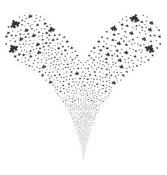 Component fountain stream vector