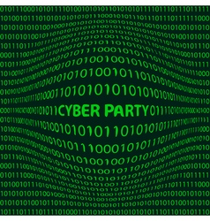 Cyber party background vector image