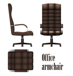 deluxe office armchair isolated on white vector image vector image