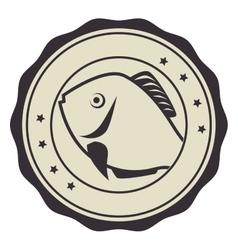 Fish seafood menu icon vector