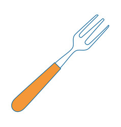 fork cutlery restaurant vector image vector image