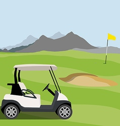 Golf field vector