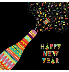 Happy new year fun design of party celebration vector