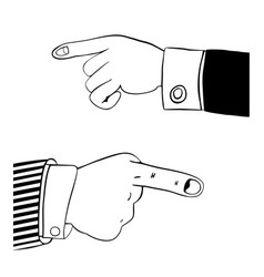 Human hand in office suit vector