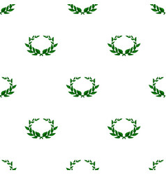 Laurel wreath icon in cartoon style isolated on vector