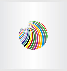 logo colorful circle abstract vector image vector image