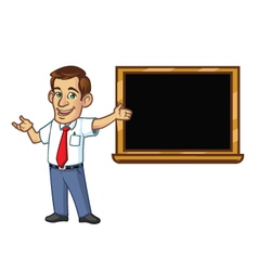 Male Teacher vector image vector image