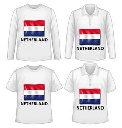 Netherland shirts vector image vector image