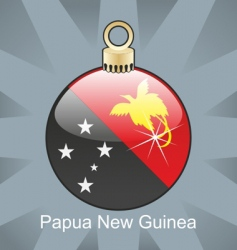 Papua guinea flag on bulb vector image vector image