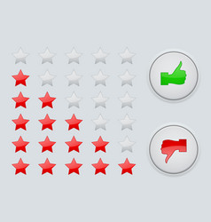 Rating stars interface element vector