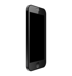 Realistic smartphone Black modern telephone vector image