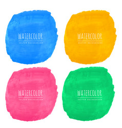 Set of four watercolor stain textures vector