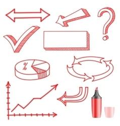 Set of symbols on a white background vector image