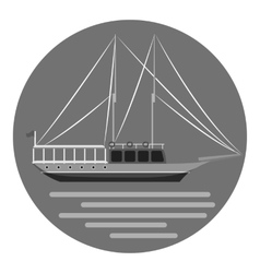 Ship icon gray monochrome style vector