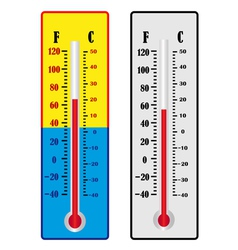 two thermometer vector image vector image