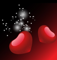 Valentine heart background vector image vector image