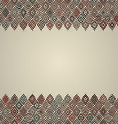 Vintage seamless border pattern vector