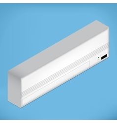 White isometric airconditioner vector