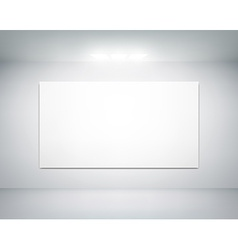 white wall on which shines a flashlight vector image