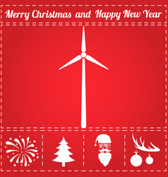 Wind power icon vector