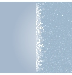 Winter snowfall snow falling snowflake card vector