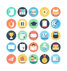 Modern education and knowledge colored icon 1 vector
