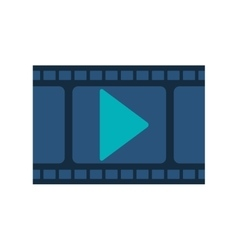 filmstrip with blue play buttom vector image