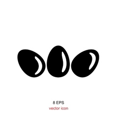 Simple egg icon vector