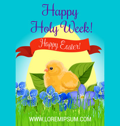 Happy easter holy week paschal greeting vector