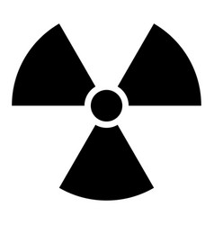 Ionising radiation sign attention danger symbol vector