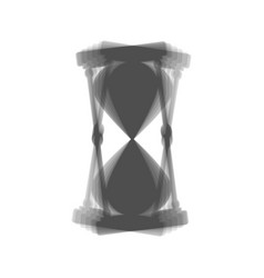 Hourglass sign gray icon vector