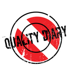 Quality diary rubber stamp vector