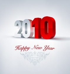 2010 3d newyear vector image vector image
