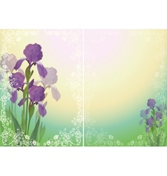 Flower background for greetings card vector