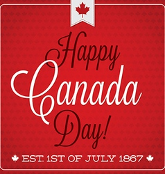 Happy canada day retro card in format vector