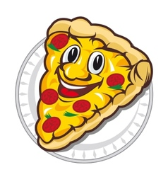 Appetizing pizza vector