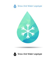 Ecology logotype icon and nature symbol snow in vector
