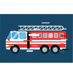 Fire truck car isolated cartoon silhouette vector