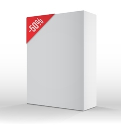 Photorealistic 3D White Carton Box Sale vector image