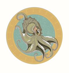 Gray octopus vector