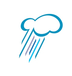 Stylized cloud with falling rain vector