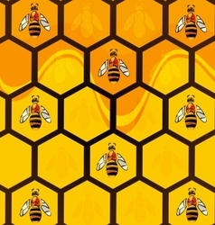 Abstract background bees vector
