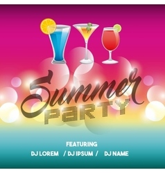 Advertising icon summer party and disco vector