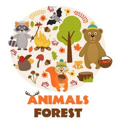 Animals of forest part 1 vector