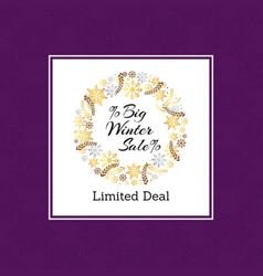 big winter sale limited deal vector image